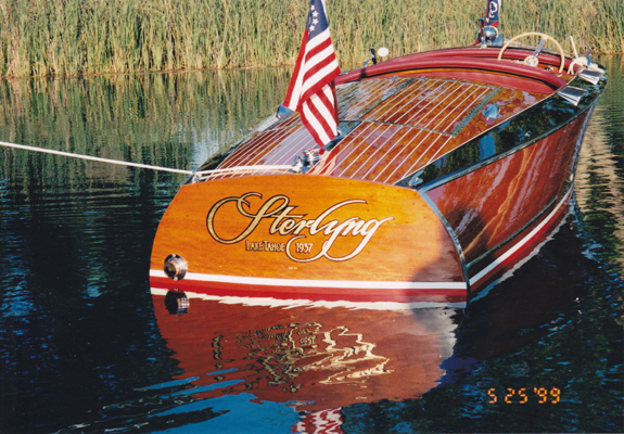 chris craft boats tony segale fine art gold leaf With classic boat lettering